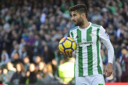 Antonio Barragán, lateral derecho del Real Betis, en el encuentro de la jornada 22 ante el Villarreal.