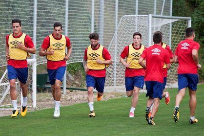 Stuani, ausente en el entrenamiento del Girona