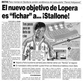 El día que Lopera intentó fichar a Stallone