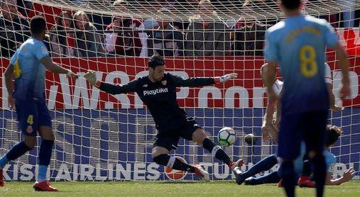 1-0. Sergio Rico le da la victoria al Sevilla