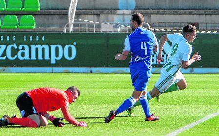 Aitor Ruibal, autor del gol ante el Melilla, volverá a ser una referencia en ataque del Betis Deportivo.