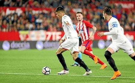 Correa, en un lance del partido ante el Atlético.