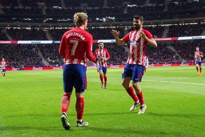 Griezmann marca su gol cien con el Atlético de Madrid