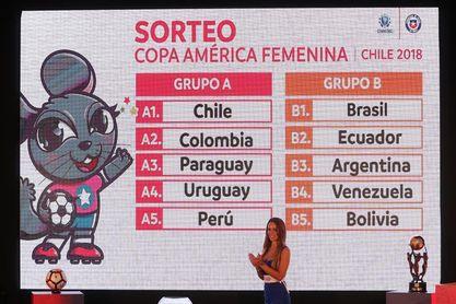 Brasil y Argentina compartirán grupo en la Copa América de fútbol femenino