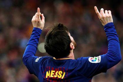 1-0. Messi acerca el título al Barcelona