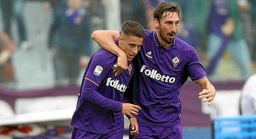 Tello, con Astori en la Fiorentina.