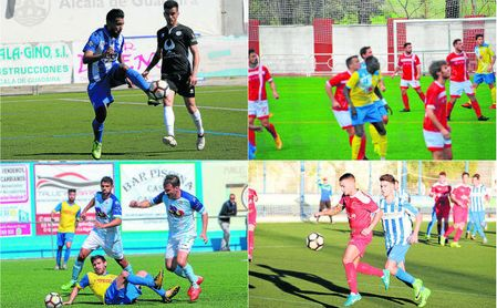 Imágenes de los encuentros del Estrella, Coria, Algabeño y Antoniano-UP Viso