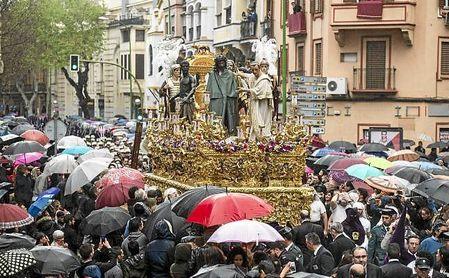 Imagen del paso de misterio de Jesús de la Presentación al Pueblo de San Benito en 2016.