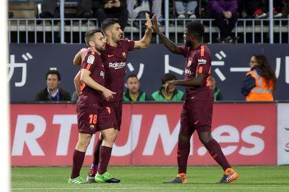 0-2. Coutinho y Suárez lanzan al Barcelona y hunden al Málaga