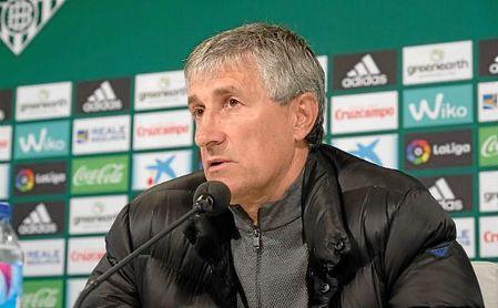 Setién, entrenador del Betis, en sala de prensa.