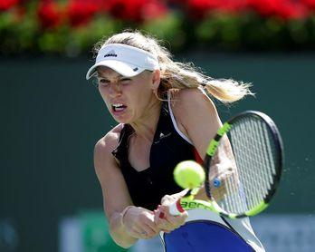 Wozniacki sufre ante Sasnovich para acceder a octavos de Indian Wells