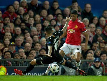 0-0. El Sevilla mantiene el empate ante el Manchester en el descanso