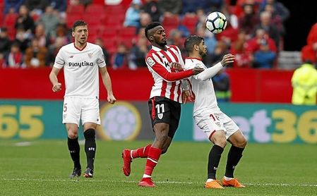 Imagen del partido Sevilla-Athletic, al que se refiere la denuncia.