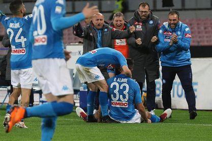 Albiol pone al Nápoles a dos puntos del líder Juventus y el Lazio tropieza