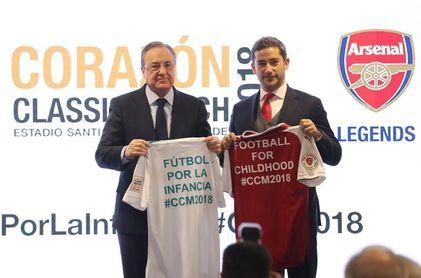 """F. Pérez: """"Es un honor vivir esta fiesta solidaria con el histórico Arsenal"""""""