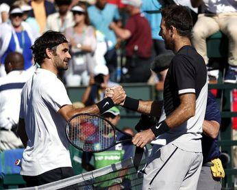 Federer busca repetir título en Miami, con permiso de Del Potro