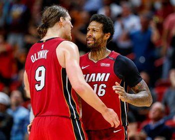 149-141. James Johnson y Olynyk deciden un maratoniano partido a favor de los Heat