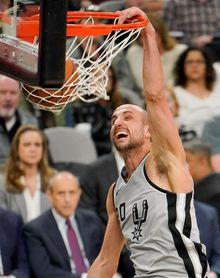 Ginóbili, a los 40 años, bate otra marca de equipo con los Spurs