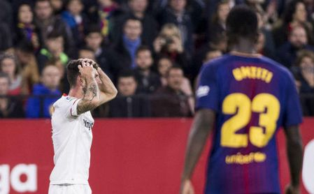 Sevilla 2-2 Barcelona: Contra Messi no fue suficiente el traje de gala