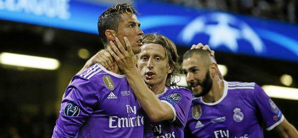 Celebración de uno de los goles de la última final de Champions, que ganó el Real Madrid 1-4 a la Juventus.