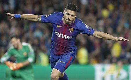 Suárez pone fin una racha de más de un año sin marcar en Europa