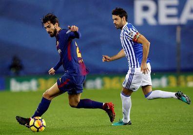 Prieto, único jugador de la plantilla de la Real que le ha ganado al Girona