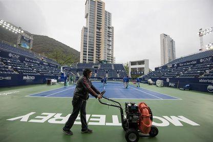 Suspenden por lluvia la tercera jornada del Abierto de Tenis de Monterrey