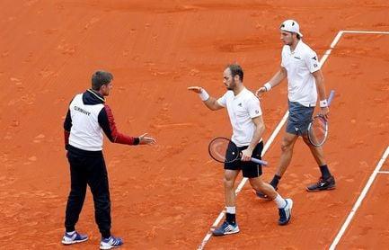 El dobles alemán pone contra las cuerdas a España tras ganar un épico partido