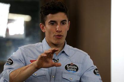 """Marc Márquez dice que Rossi """"es uno más"""" en pista y que seguirá """"al límite"""""""