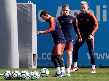 Lucas Digne vuelve a entrenarse con el grupo