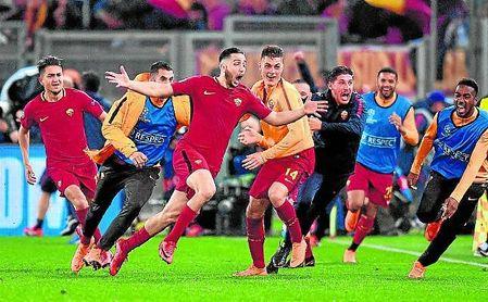 Manolas pasará a la historia por ser quien metió a la Roma en las ´semis´ de la Liga de Campeones.