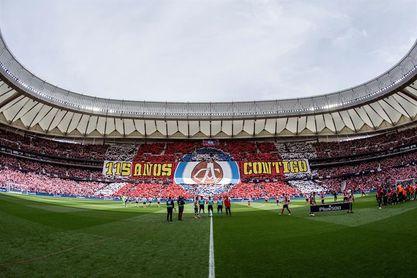 ´115 Años contigo´, el primer tifo del Wanda Metropolitano