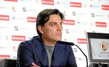 Montella destaca que el Sevilla podría entrar en Europa un mes antes de acabar LaLiga.
