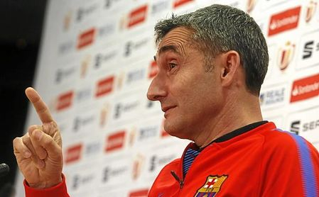 Valverde, durante su comparecencia previa a la final de la Copa del Rey.