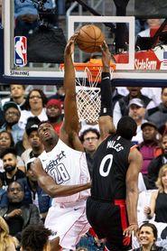 122-103. Beal y Wall destrozan a la defensa de los Raptors y dan el triunfo a los Wizards