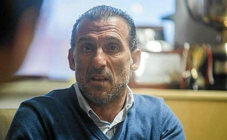 Óscar Arias, en una entrevista con ESTADIO Deportivo esta temporada.