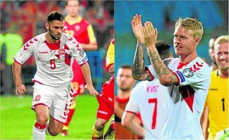 Durmisi y Kjaer en la prelista de Dinamarca para el Mundial