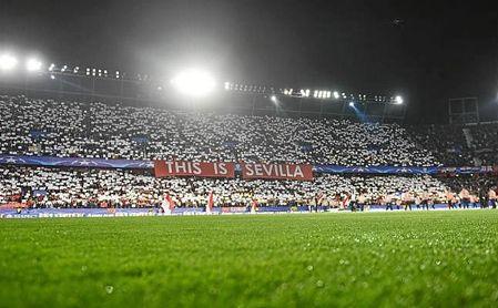 Imagen del Ramón Sánchez-Pizjuán en el partido de Champions ante el United.