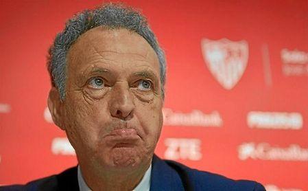 Joaquín Caparrós, durante la rueda de prensa de hoy.