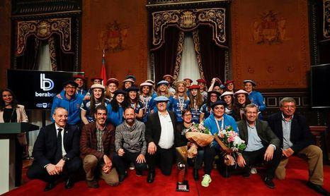 La Diputación de Gipuzkoa homenajea al Bera Bera por su quinto título de Liga