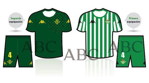 Así son las nuevas equipaciones del Real Betis.