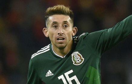 Héctor Herrera durante un partido con la Selección Mexicana.