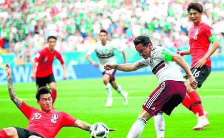 Andrés Guardado jugó 67 minutos ante Corea y provocó el penalti que dio origen al 1-0.
