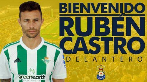 Imagen del anuncio de Rubén Castro por parte de Las Palmas.