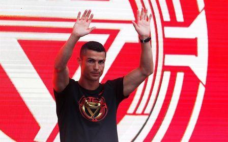 Cristiano Ronaldo sorprende a los visitantes de la Ciudad Prohibida