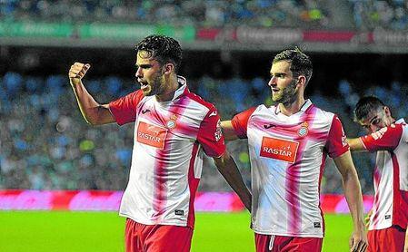 Diego Reyes celebra un gol que le metió al Betis en el Benito Villamarín, cuando jugaba cedido en el Espanyol.