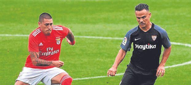 Roque Mesa, ante el Benfica.
