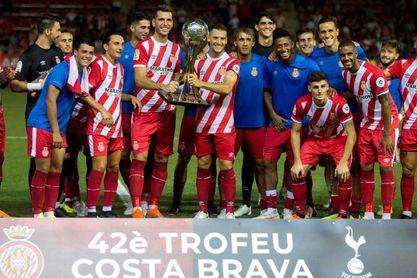 4-1. El nuevo Girona de Eusebio Sacristán se exhibe ante el Tottenham