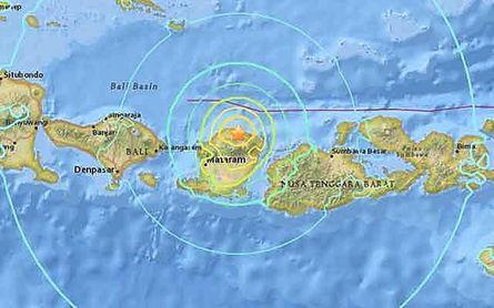 Situación de la isla de Lombok.