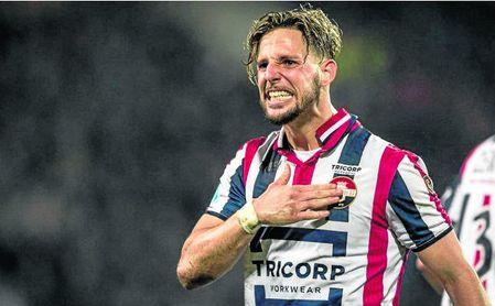Fran Sol celebra uno de los tantos conseguidos con el Willem II.
